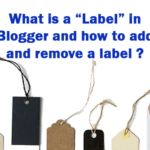 Blogger labels