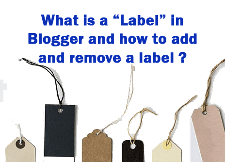 Blogger labels