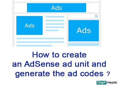 How to Create ad AdSense units